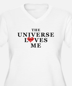 The Universe Loves Me Plus Size V-Neck T-Shirt