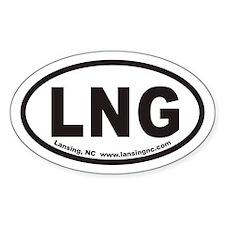 Lansing North Carolina LNG Euro Oval Decal