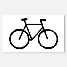 Bike Rectangle Sticker 50 pk)