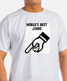 World's Best Jindo Ash Grey T-Shirt