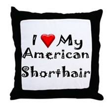American Curl Throw Pillow