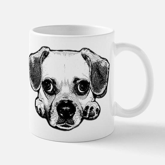 Black & White Puggle Mug