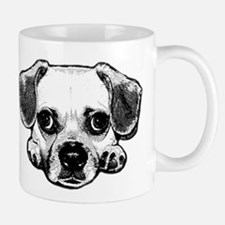 Black & White Puggle Small Small Mug