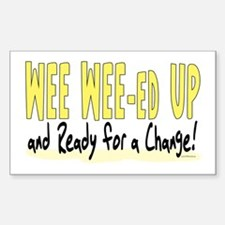 Wee Wee-ed Up 2 Rectangle Decal