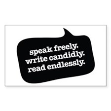 """Speak Freely"" Rectangle Decal"