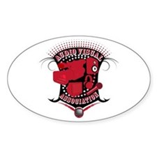 Audio Visual Oval Decal