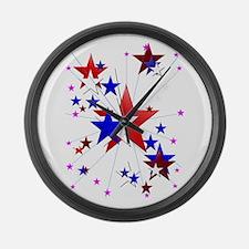 Amercian Stars Large Wall Clock