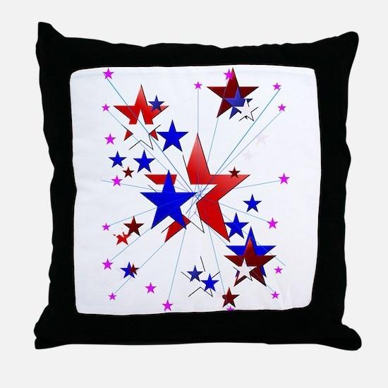 Amercian Stars Throw Pillow