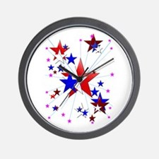 Amercian Stars Wall Clock