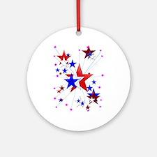 Amercian Stars Ornament (Round)