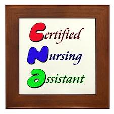 Funny Cna nursing Framed Tile