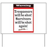 Gun Yard Signs
