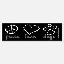 Peace Love Dogs Bumper Sticker (10 pk)