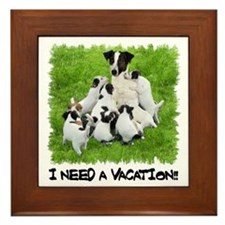 I NEED A VACATION!! Framed Tile