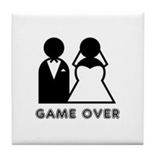 Cute Game over baby Tile Coaster