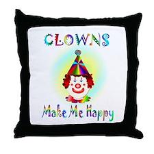 Clown Throw Pillow