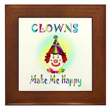 Clown Framed Tile