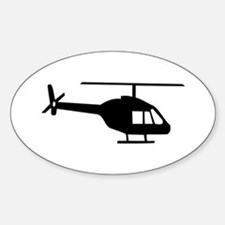 Helicopter Oval Decal