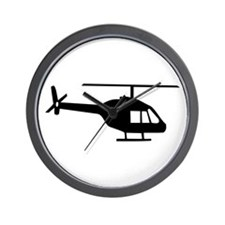 Helicopter Wall Clock