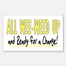 All Wee-Weed Up Rectangle Decal