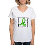 Non Hodgkins Month Gem Women's V-Neck T-Shirt
