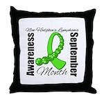 Non Hodgkins Month Gem Throw Pillow