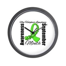 Non Hodgkins Month Gem Wall Clock