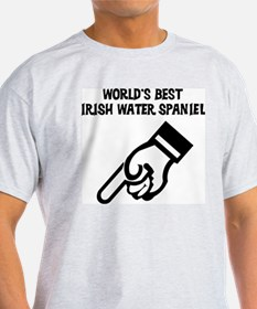 World's Best Irish Water Span Ash Grey T-Shirt