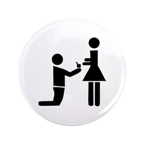"Wedding Proposal 3.5"" Button (100 pack)"