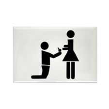 Wedding Proposal Rectangle Magnet (100 pack)