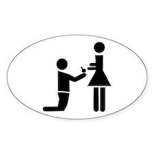 Wedding Proposal Oval Decal