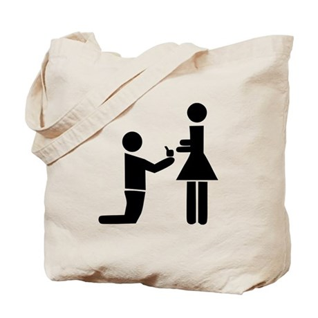 Wedding Proposal Tote Bag