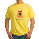 HAPPY BIRTHDAY PINK PIG Yellow T-Shirt
