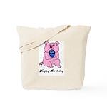HAPPY BIRTHDAY PINK PIG Tote Bag