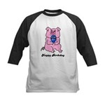 HAPPY BIRTHDAY PINK PIG Kids Baseball Jersey