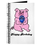 HAPPY BIRTHDAY PINK PIG Journal