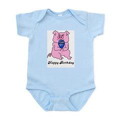 HAPPY BIRTHDAY PINK PIG Infant Bodysuit