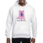 HAPPY BIRTHDAY PINK PIG Hooded Sweatshirt
