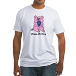 HAPPY BIRTHDAY PINK PIG Fitted T-Shirt