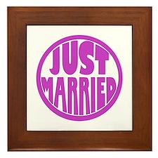 Just Married Framed Tile
