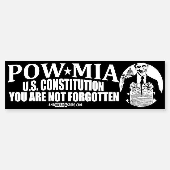 POW-MIA: U.S. Constitution Bumper Bumper Bumper Sticker