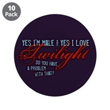 """Male Who Loves Twilight 3.5"""" Button (10 pack)"""