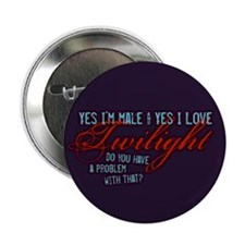"""Male Who Loves Twilight 2.25"""" Button (100 pack)"""