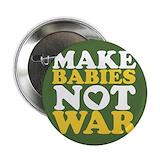 Make love not war Buttons