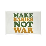 Make Babies Not War Rectangle Magnet (10 pack)