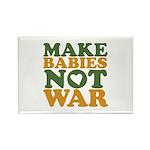 Make Babies Not War Rectangle Magnet (100 pack)