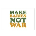Make Babies Not War Postcards (Package of 8)
