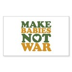 Make Babies Not War Rectangle Sticker 50 pk)