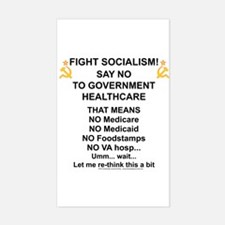 Socialism? Ok, I'll suffer. Rectangle Decal