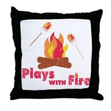 Plays with Fire Throw Pillow